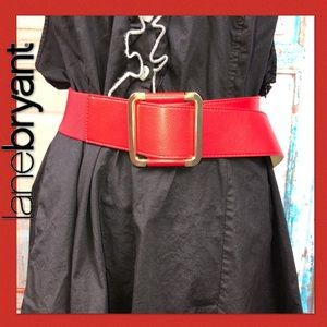 ➕ Red Faux Leather Belt